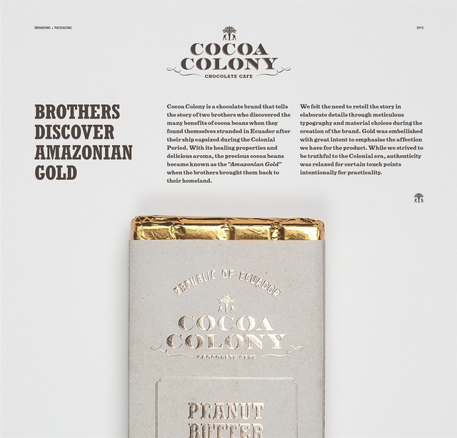 Cocoa Colony巧克力包装设计